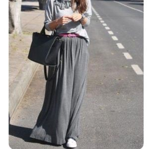 NWT Persun Gray Flared Maxi Skirt